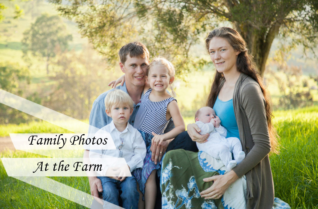 Family Photo Shoot at a Farm